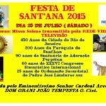 Festa de Santa Ana 2015 – Rio de Janeiro