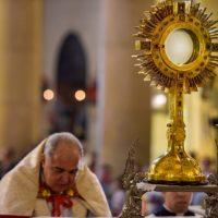 Missa de encerramento da Semana Eucarística, na Igreja de Santana.