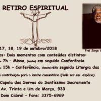 Retiro Espiritual com as Servas do Santíssimo Sacramento.