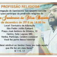 Profissão Religiosa do Noviço Felipe Janderson
