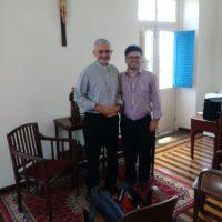Encontro do Provincial Pe. Marcelo Carlos com Dom Manoel Delson, Bispo da Paraíba