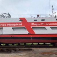 Barco Hospital Papa Francisco pronto para testes
