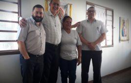 Monsenhor Hernaldo P. Farias Visita Centro Emaús