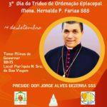3º dia do Tríduo de Ordenação Episcopal do Monsenhor Hernaldo P. Farias, SSS