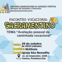 Encontro Vocacional Sacramentino – Regional 1