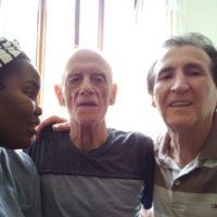 Pe. Ismael Destefani, sss visita ao Padre Edson Franco, sss