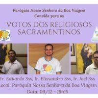 Renovação de Votos dos Irmãos Joel, Eduardo e Elissandro.