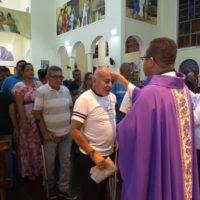 Quarta-feira de Cinzas na Paróquia São Benedito