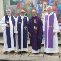 Acolhida de Pe. Alejandro Fabio, sss como novo membro da comunidade Sacramentina de Caratinga MG