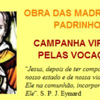 Campanha Virtual Pelas Vocações Sacramentinas - Madrinhas e Padrinhos
