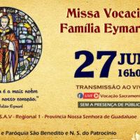Missa pelas vocações sacramentinas da Família Eymardiana
