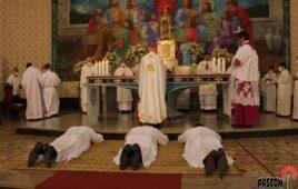 Três novos Diáconos para a Congregação e a Igreja