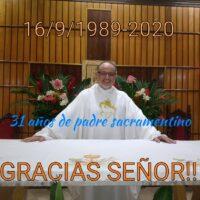 Aniversário de Ordenação Presbiteral do Pe. Alejandro Fabio Gonzalez, sss