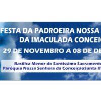 Inicio da festa da Padroeira Nossa Senhora da Imaculada Conceição