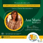 Promessas de vida de Ana María Rodriguez – Agregação de Leigos e Leigas Sacramentinos