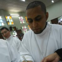 Aniversário de Profissão religiosa dos Diác. Francisco Haroldo, sss, e Eduardo Sales, sss