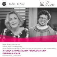 Assista nessa quarta (13.01) uma live do Pe. Marcelo Silva com a jornalista Márcia Peltier