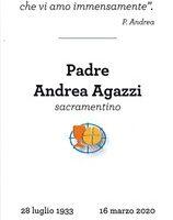 Um ano da Páscoa de Padre Andre Agazzi, sss