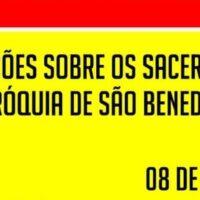 Informações estado de saúde dos religiosos da Paróquia São Benedito