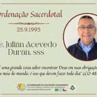 Aniversário de Ordenação Presbiteral Pe. Julián Acevedo Durán, sss