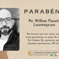 Aniversário de nascimento Pe. Willian Fausto, sss.