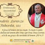 Aniversário de ordenação presbiteral Pe. Andrés Lorenzo Taborda, sss